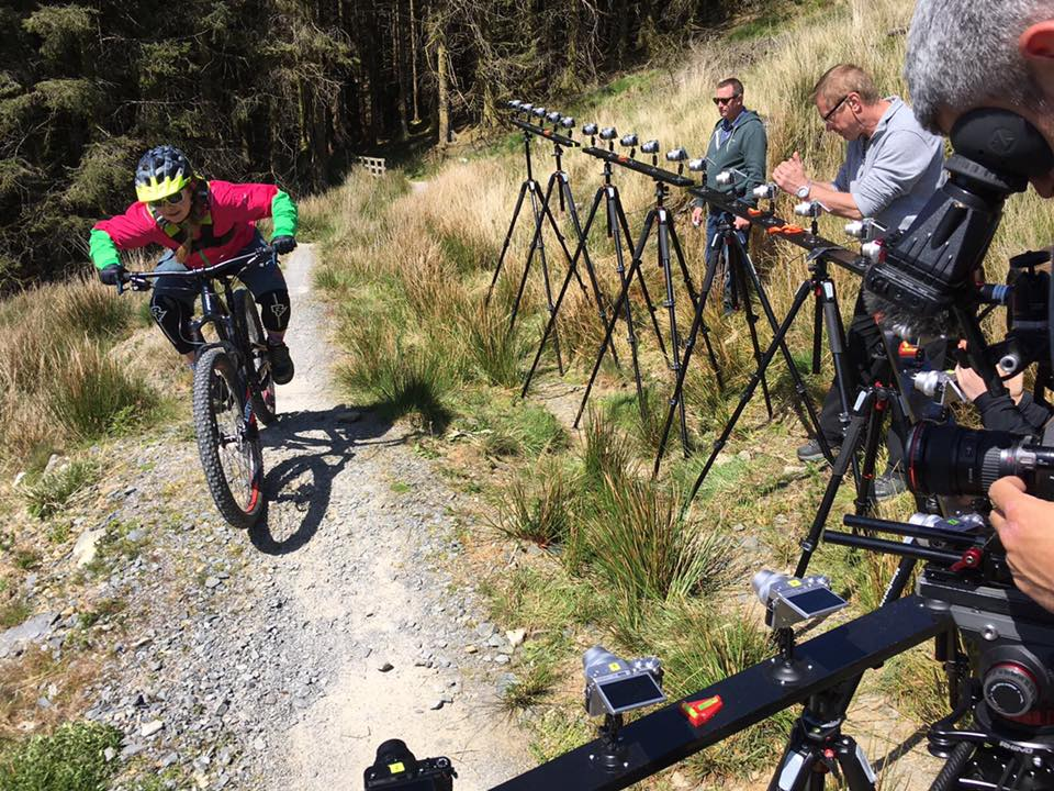 Filming for British Cycling Trailsmart series